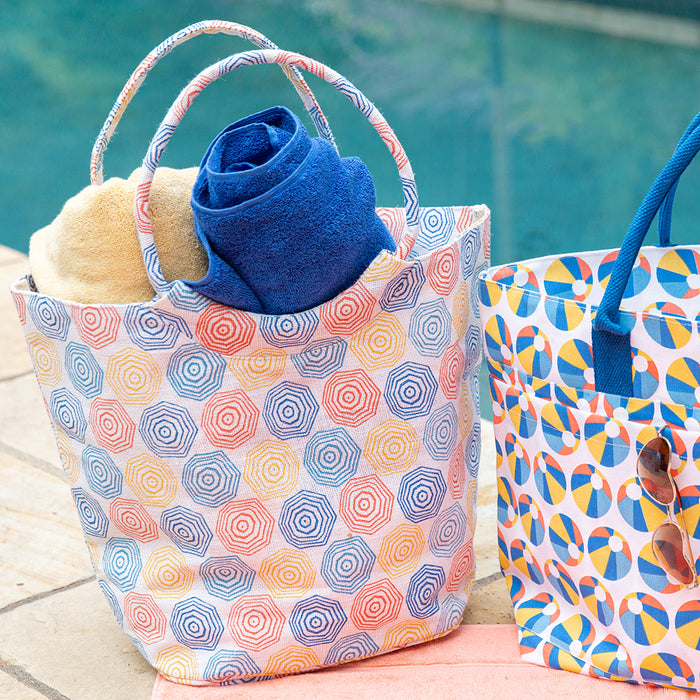 Umbrellas blu Jute Bucket Bag - rockflowerpaper LLC