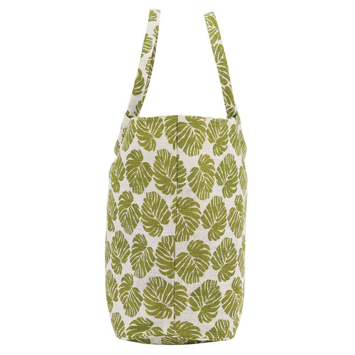 Monstera blu Jute Bucket Bag - rockflowerpaper LLC