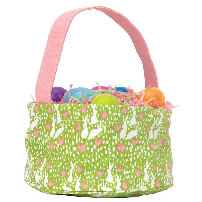 Bunnies Green blu Easter Basket - rockflowerpaper LLC