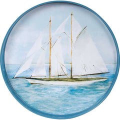 Summer Sail 18 inch Round Serving Tray