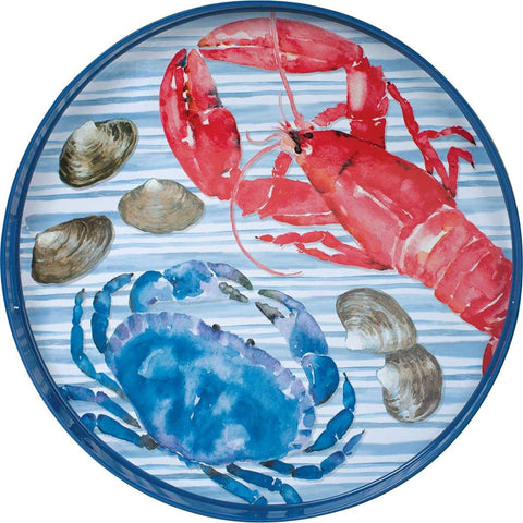 Coastal Catch 18 inch Round Serving Tray