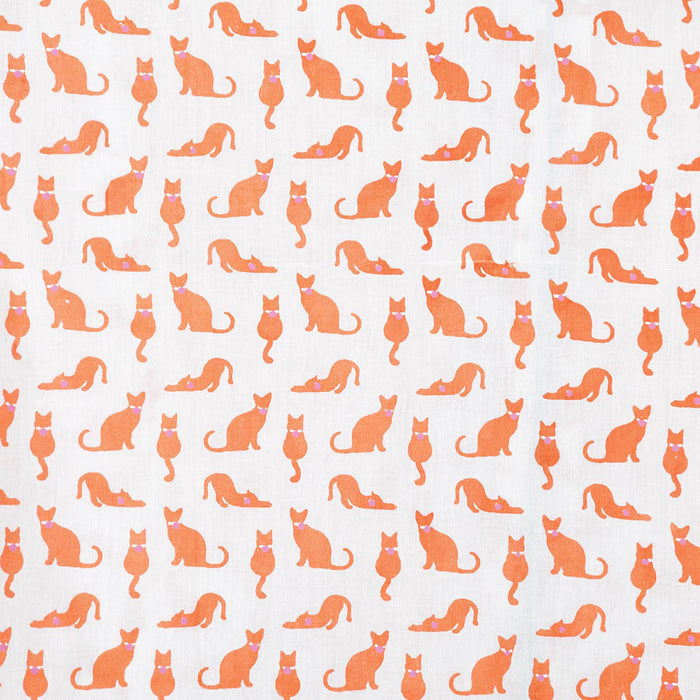 Cats Orange Cotton Sleep Shirt