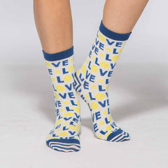 Tennis Love Pair of Crew Length Socks