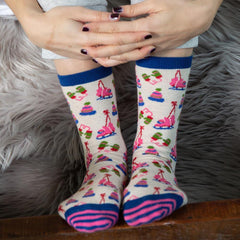 Winter Warmies Pink Pair Of Crew Length Socks