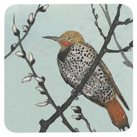 Flicker Neutral Square Art Coasters - Set Of Four