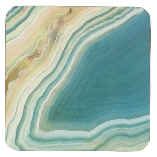 Sea Agate Square Art Coasters - Set of 4 - rockflowerpaper LLC