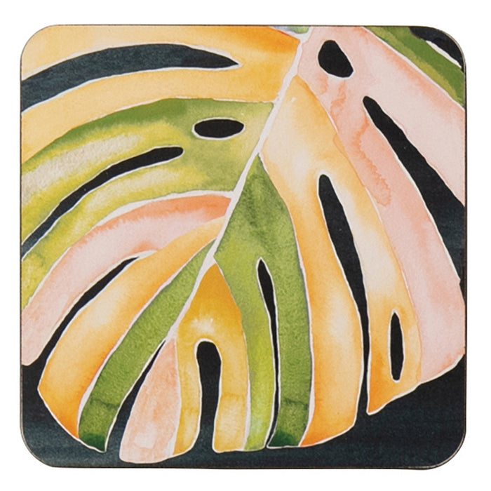 Monstera Square Art Coasters - Set of 4 - rockflowerpaper LLC