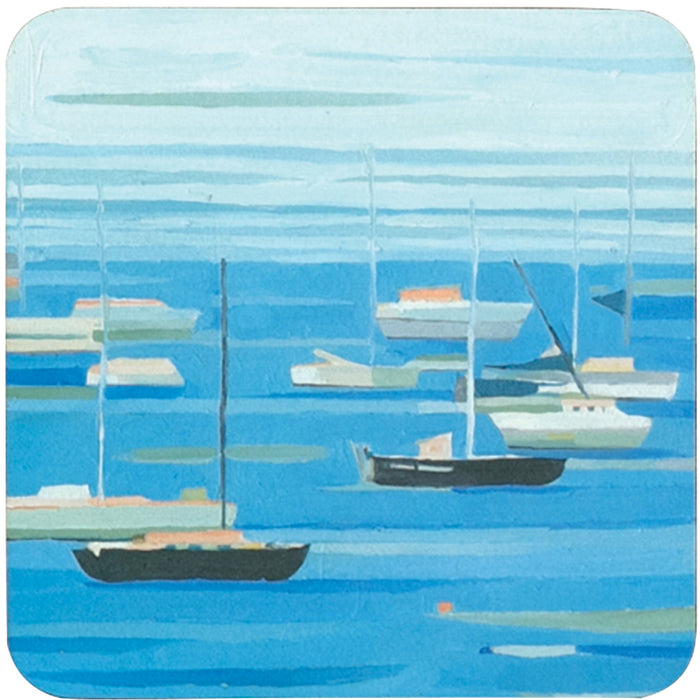 Summer Regatta Square Art Coasters - Set of 4