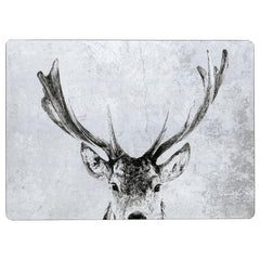 Snowy Deer Neutral Art Placemats - Set Of Four