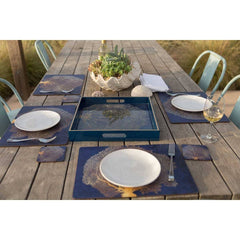 Gold Coral Placemat Set 4