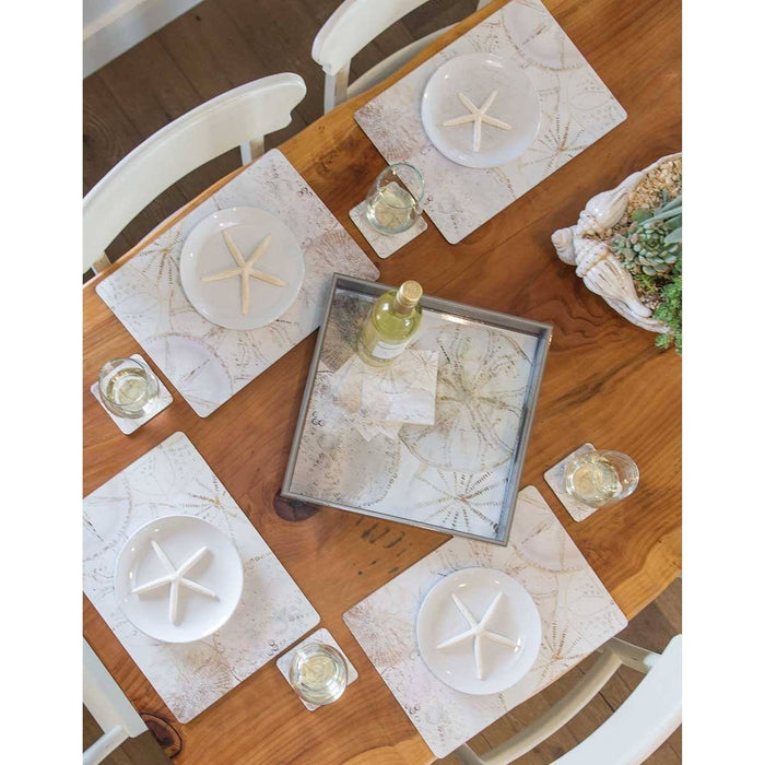 Coastal Shells Placemat Set 4 - rockflowerpaper LLC