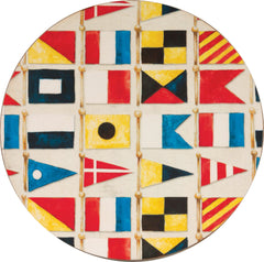 Nautical Flags Round Coaster Set Four - rockflowerpaper LLC