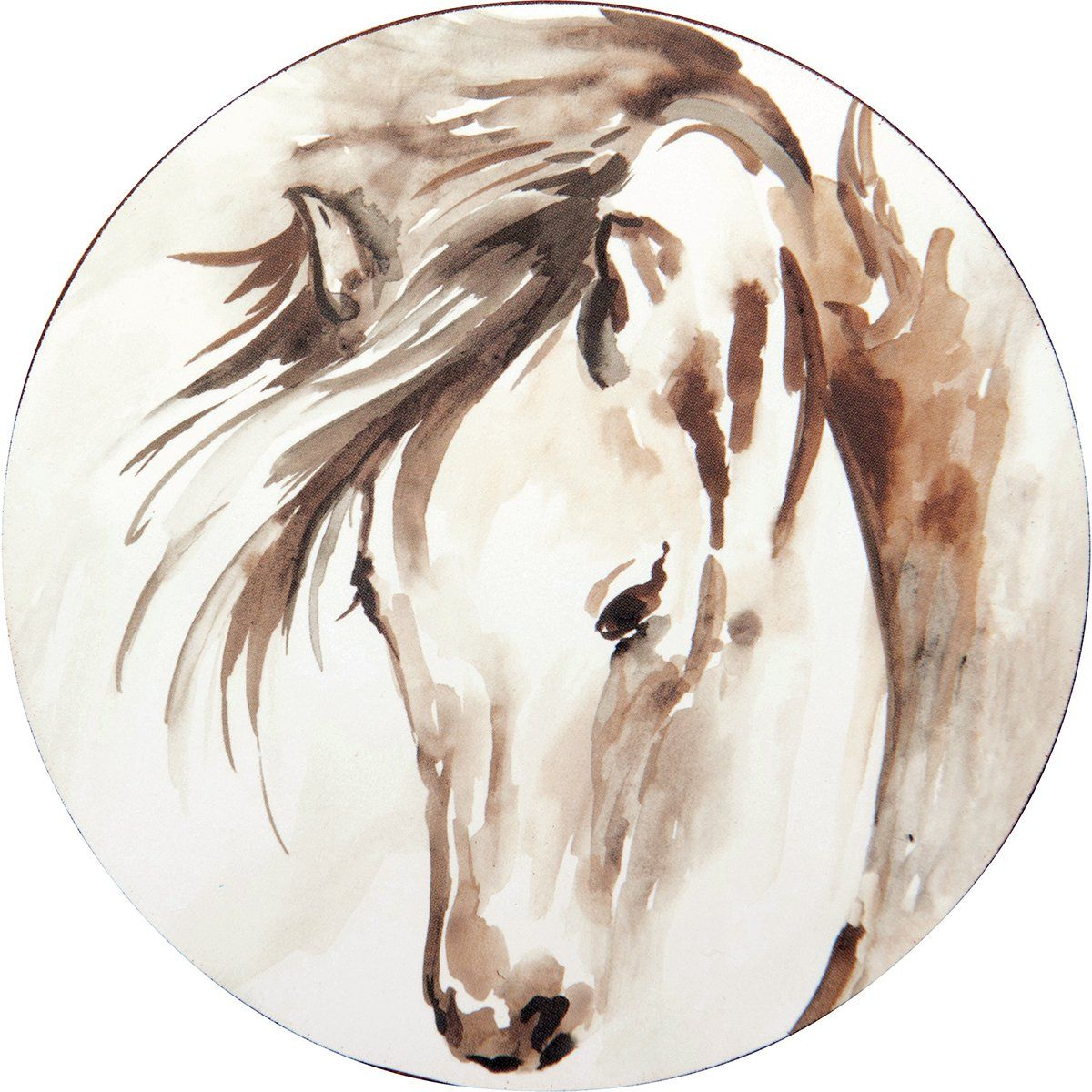 Horse Round Art Coasters - Set of Four
