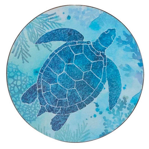Sea Turtle Round Art Coasters - Set of Four - rockflowerpaper LLC