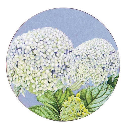 Hydrangea Round Art Coasters - Set of Four - rockflowerpaper LLC