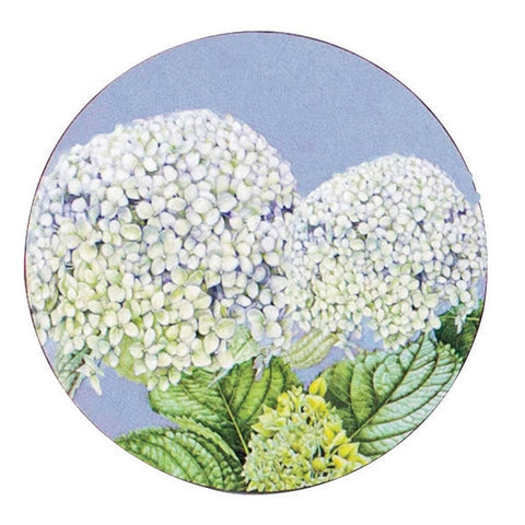 Hydrangea Round Art Coasters - Set of Four