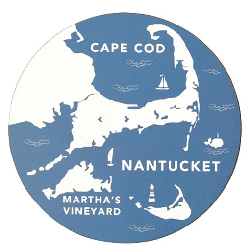 Coastal Cape Round Art Coasters - Set of 4 - rockflowerpaper LLC