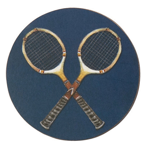 Tennis Anyone Round Art Coasters - Set of 4 - rockflowerpaper LLC