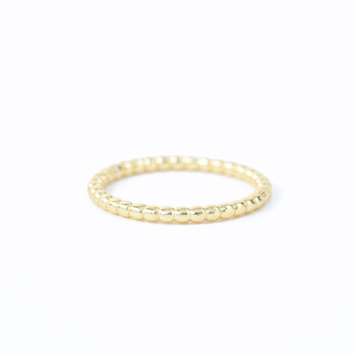 Twisted Bead Stackable Band Gold Plated