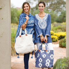 Keros Indigo Embroidered Tunic - rockflowerpaper LLC