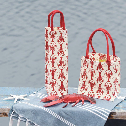 Lobster Red Itsy Bitsy Gift Bags, Pack of 4 (Price is per Bag) - rockflowerpaper LLC