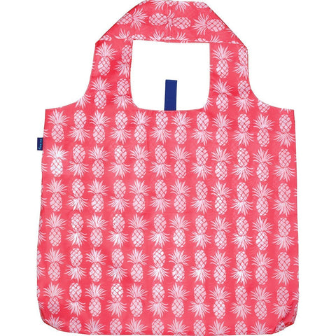 Pineapple Pink Blu Bag Reusable Shopping Bag - rockflowerpaper LLC