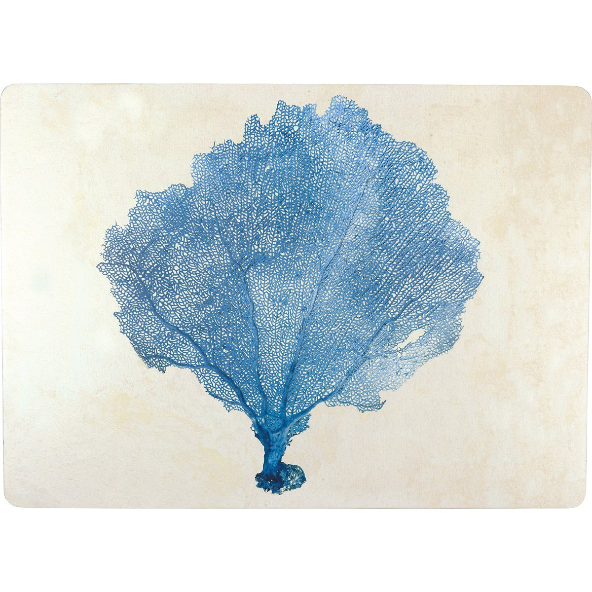 Blue Sea Fan Art Placemats - Set of Four - rockflowerpaper LLC