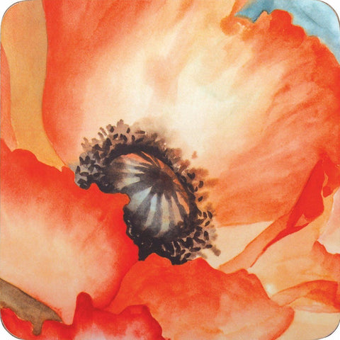 Poppy Square Art Coasters - Set of Four - rockflowerpaper LLC