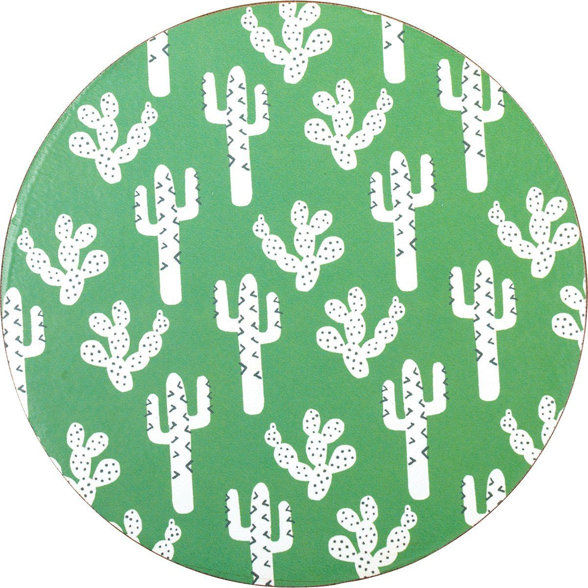Cactus Round Art Coasters - Set of Four - rockflowerpaper LLC