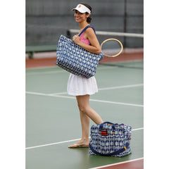 Wimbledon Navy Overnighter Bag - rockflowerpaper LLC