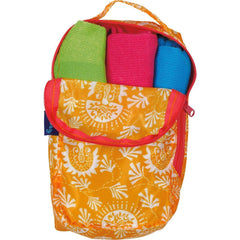 Iris Orange Blu Bag Travel Organizer Set of Three - rockflowerpaper LLC