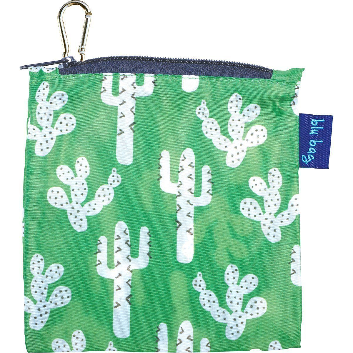 Cactus Green Blu Bag Reusable Shopping Bag - rockflowerpaper LLC