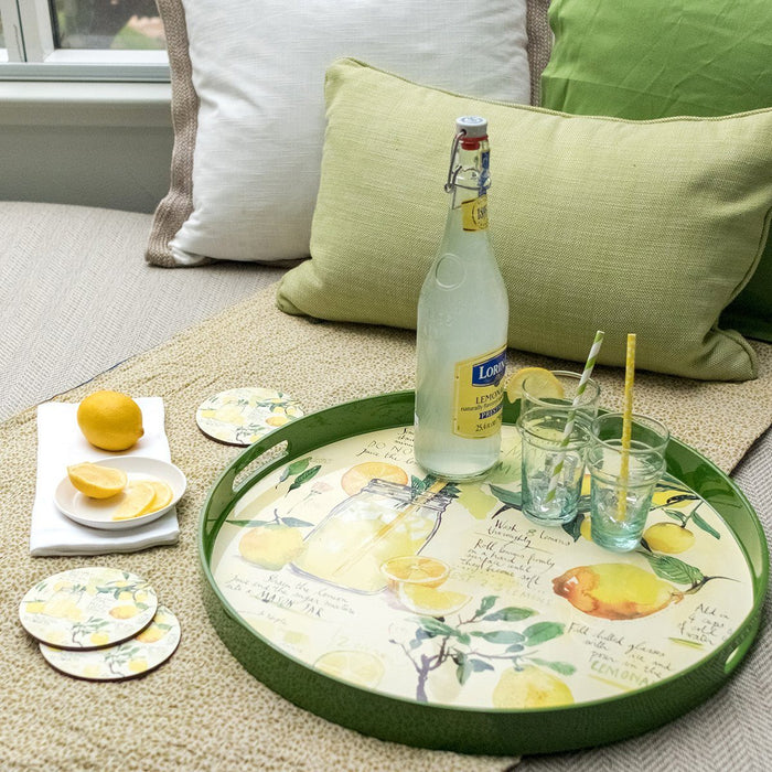 Lemonade Round Art Coasters - Set of Four - rockflowerpaper LLC