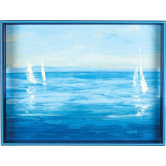 Open Sail 15 x 20 inch Rectangular Lacquer Art Serving Tray - rockflowerpaper LLC