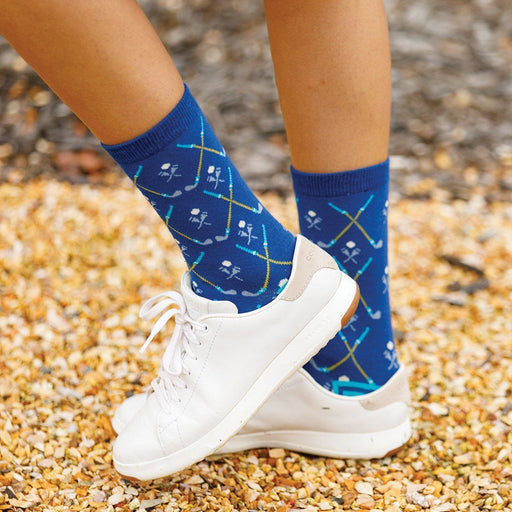 Golf Navy Pair of Crew Length Socks - rockflowerpaper LLC