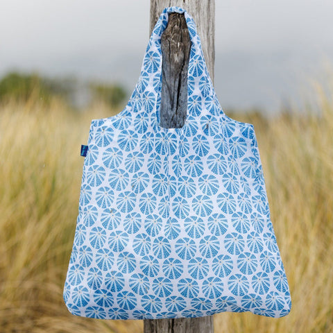 Sea Urchin Blue Blu Bag Reusable Shopping Bag - rockflowerpaper LLC