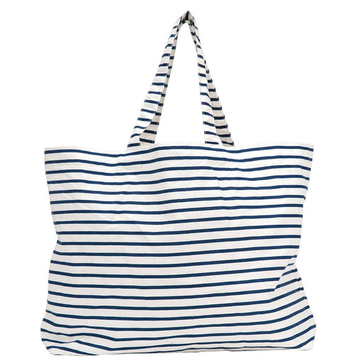 Bateau Stripe Navy Canvas Slouch Bag - rockflowerpaper LLC