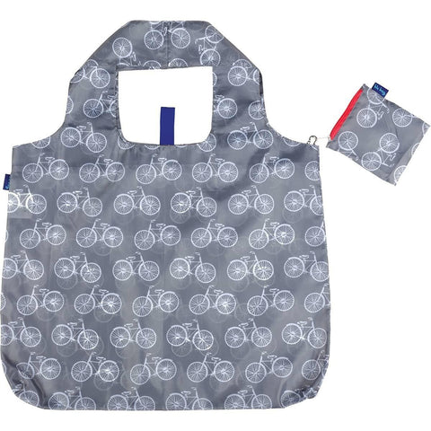 Summer Bikes Grey Blu Bag Reusable Shopping Bag
