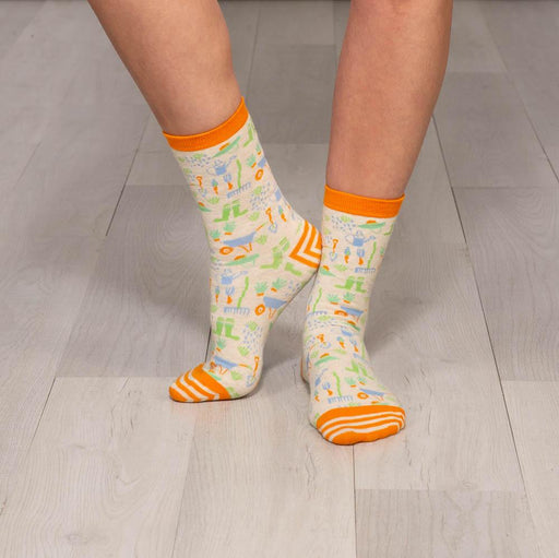 Garden Party Pair of Crew Length Socks - rockflowerpaper LLC