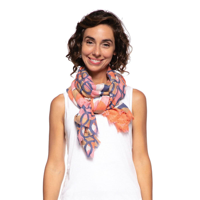 Gina Pink Oversized Scarf - rockflowerpaper LLC