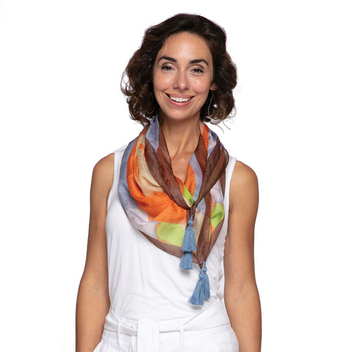 Hayden Orange Silk Scarf - rockflowerpaper LLC