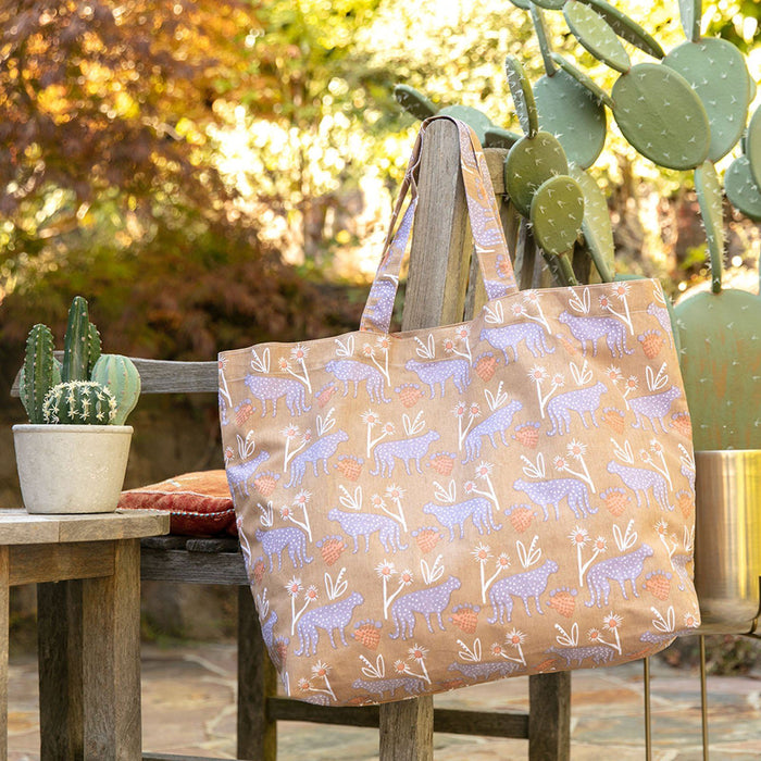 Leopard Tan Canvas Slouch Bag - rockflowerpaper LLC