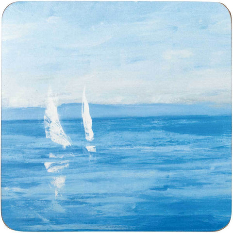 Open Sail Square Art Coasters - Set of Four