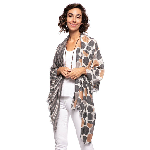 Riley Black Oversized Scarf - rockflowerpaper LLC
