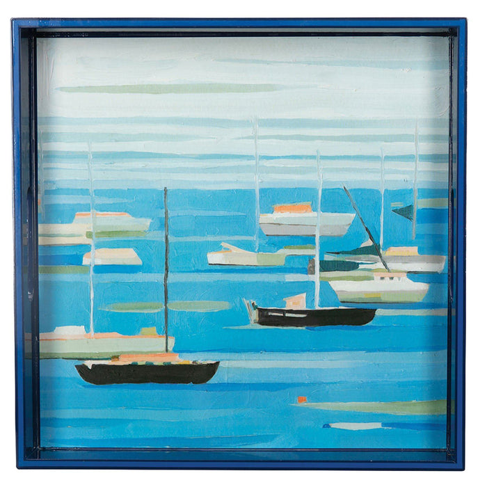 "Summer Regatta 15"" x 15"" Art Tray - rockflowerpaper LLC"