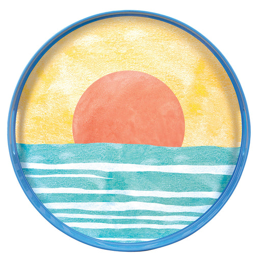 "Sunset 15"" Coco Tray - rockflowerpaper LLC"