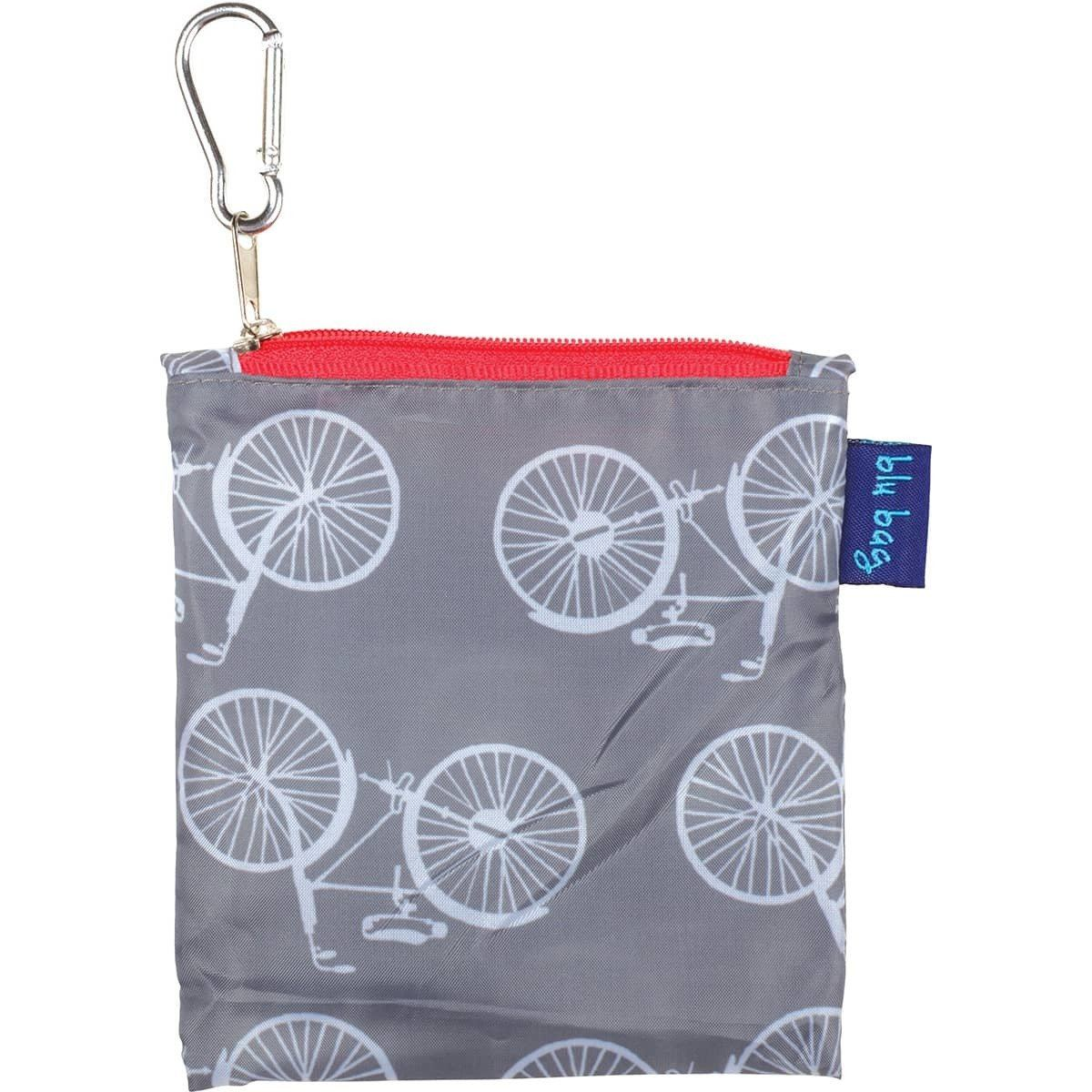 Summer Bikes Grey Blu Bag Reusable Shopping Bag - rockflowerpaper LLC