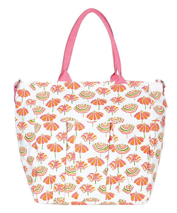 Beach Umbrellas Pink Weekender Bag