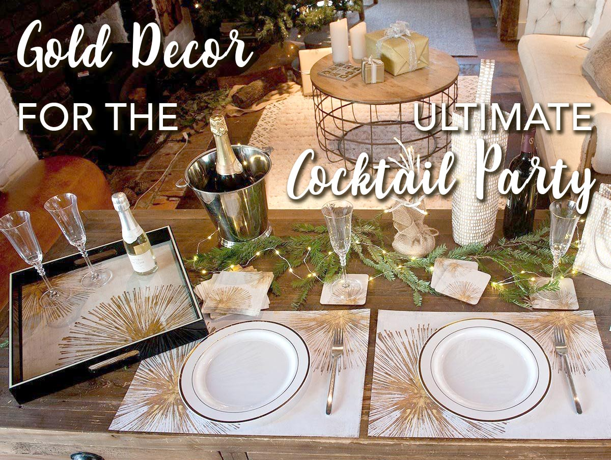 Gold Decor for the Ultimate Cocktail Party