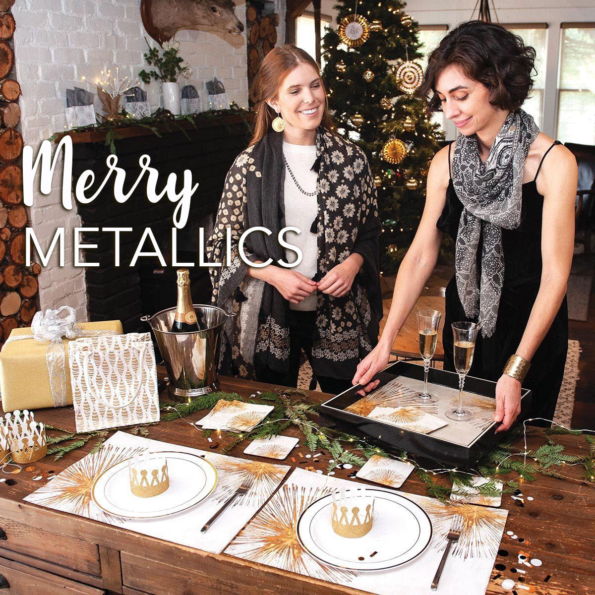 Metallic Home Decor for Holiday Entertaining